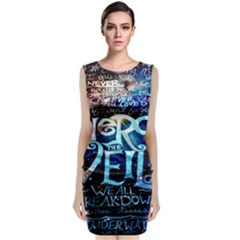 Pierce The Veil Quote Galaxy Nebula Classic Sleeveless Midi Dress