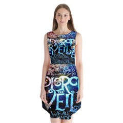 Pierce The Veil Quote Galaxy Nebula Sleeveless Chiffon Dress