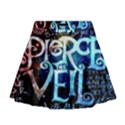 Pierce The Veil Quote Galaxy Nebula Mini Flare Skirt View1