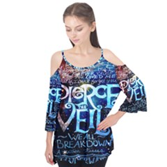 Pierce The Veil Quote Galaxy Nebula Flutter Tees