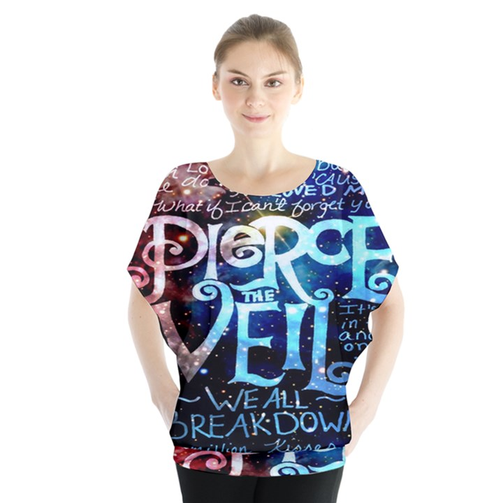 Pierce The Veil Quote Galaxy Nebula Blouse