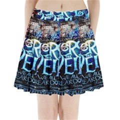 Pierce The Veil Quote Galaxy Nebula Pleated Mini Skirt