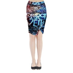 Pierce The Veil Quote Galaxy Nebula Midi Wrap Pencil Skirt