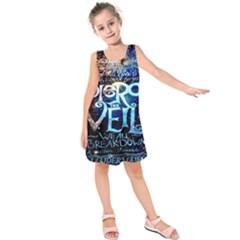 Pierce The Veil Quote Galaxy Nebula Kids  Sleeveless Dress