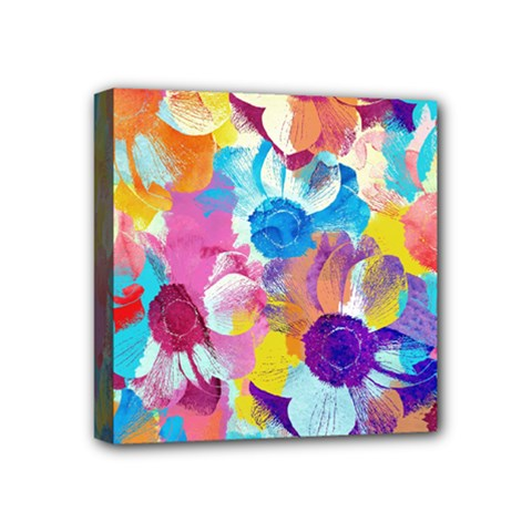 Anemones Mini Canvas 4  x 4