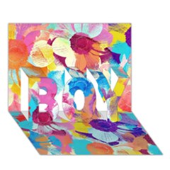 Anemones BOY 3D Greeting Card (7x5)