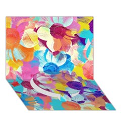 Anemones Circle Bottom 3D Greeting Card (7x5)