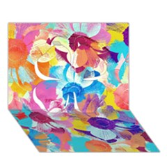 Anemones Clover 3D Greeting Card (7x5)
