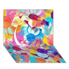 Anemones Circle 3d Greeting Card (7x5)