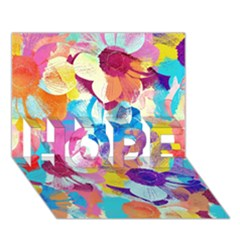 Anemones HOPE 3D Greeting Card (7x5)