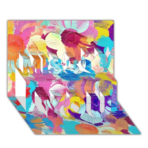 Anemones Miss You 3D Greeting Card (7x5)
