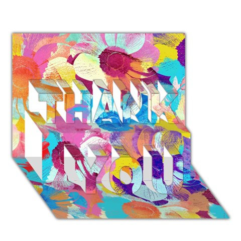 Anemones THANK YOU 3D Greeting Card (7x5)