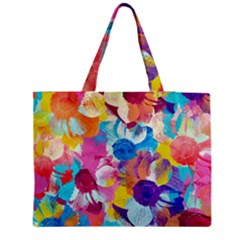 Anemones Medium Zipper Tote Bag