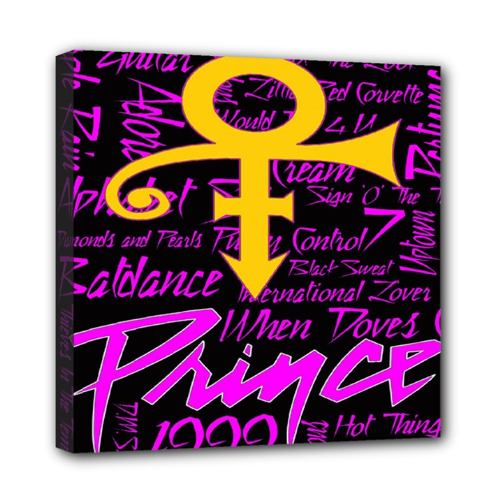 Prince Poster Mini Canvas 8  x 8