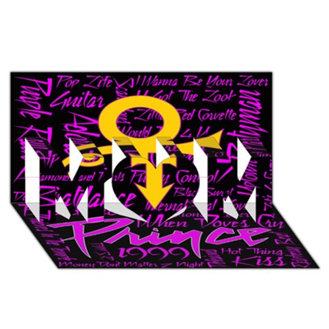 Prince Poster MOM 3D Greeting Card (8x4)