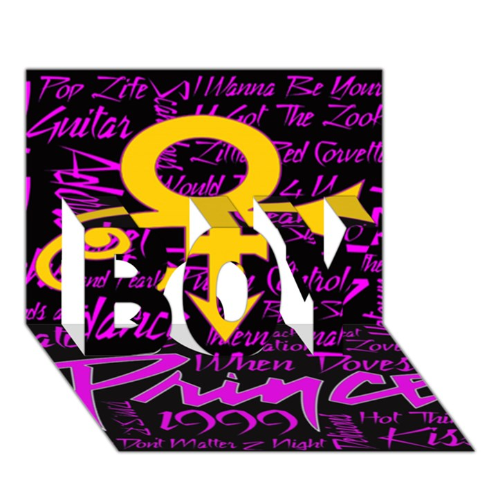 Prince Poster BOY 3D Greeting Card (7x5)