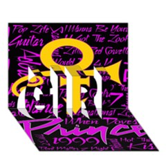 Prince Poster GIRL 3D Greeting Card (7x5)