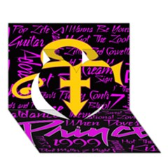 Prince Poster Heart 3D Greeting Card (7x5)