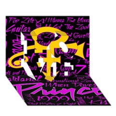 Prince Poster LOVE 3D Greeting Card (7x5)