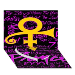 Prince Poster Heart Bottom 3d Greeting Card (7x5)