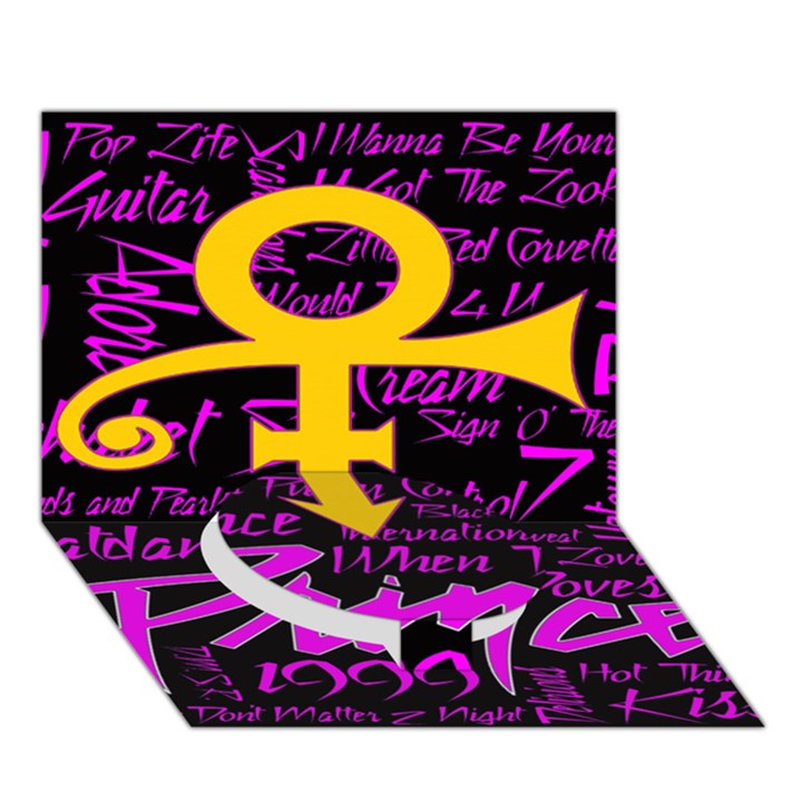 Prince Poster Circle Bottom 3D Greeting Card (7x5)
