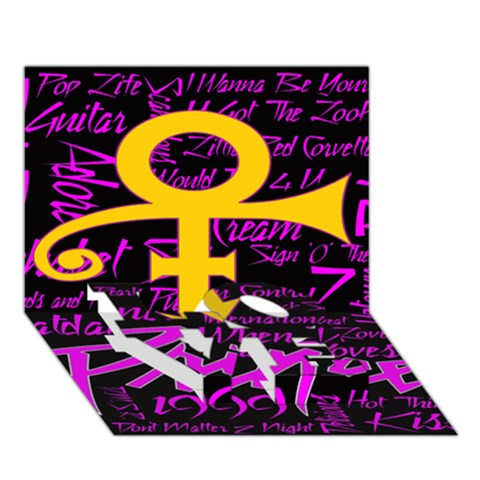 Prince Poster LOVE Bottom 3D Greeting Card (7x5)