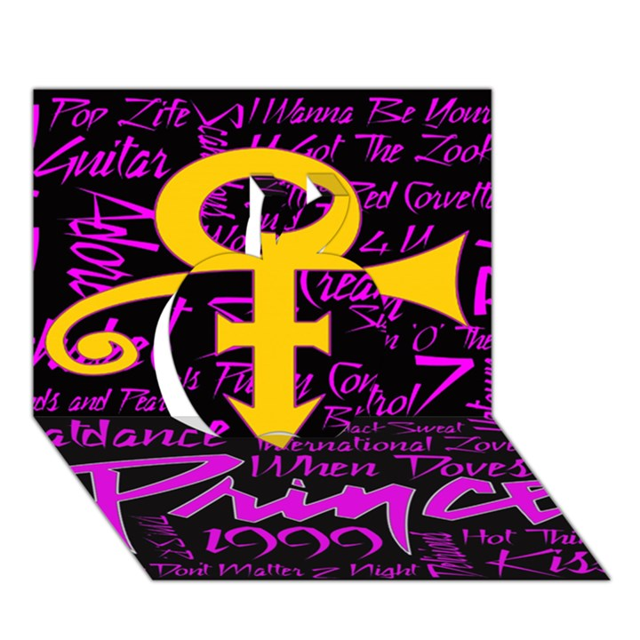 Prince Poster Apple 3D Greeting Card (7x5)