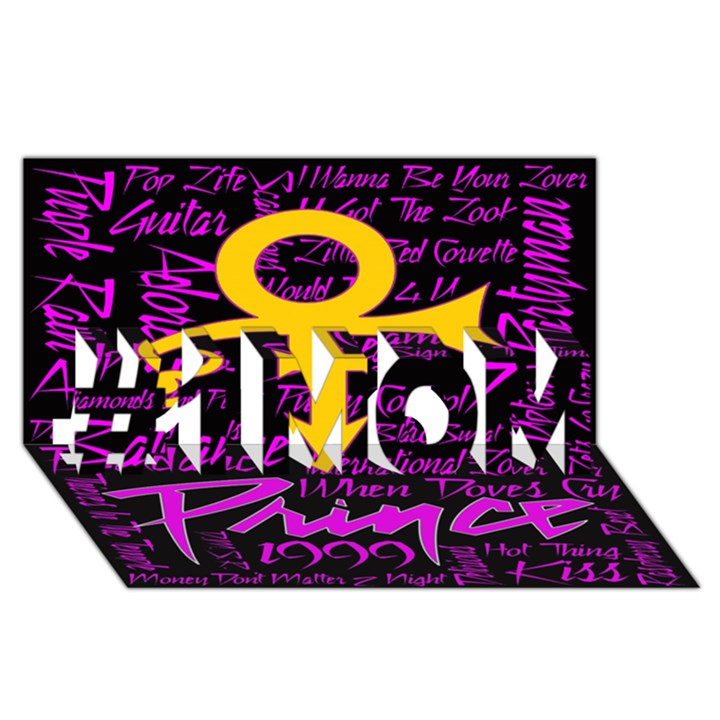 Prince Poster #1 MOM 3D Greeting Cards (8x4)