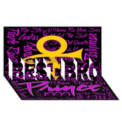 Prince Poster Best Bro 3d Greeting Card (8x4)