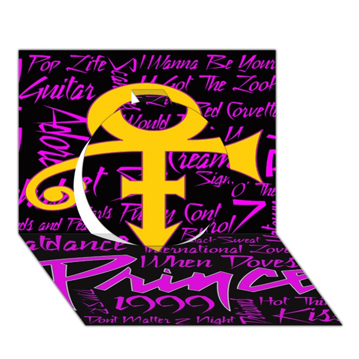 Prince Poster Circle 3D Greeting Card (7x5)