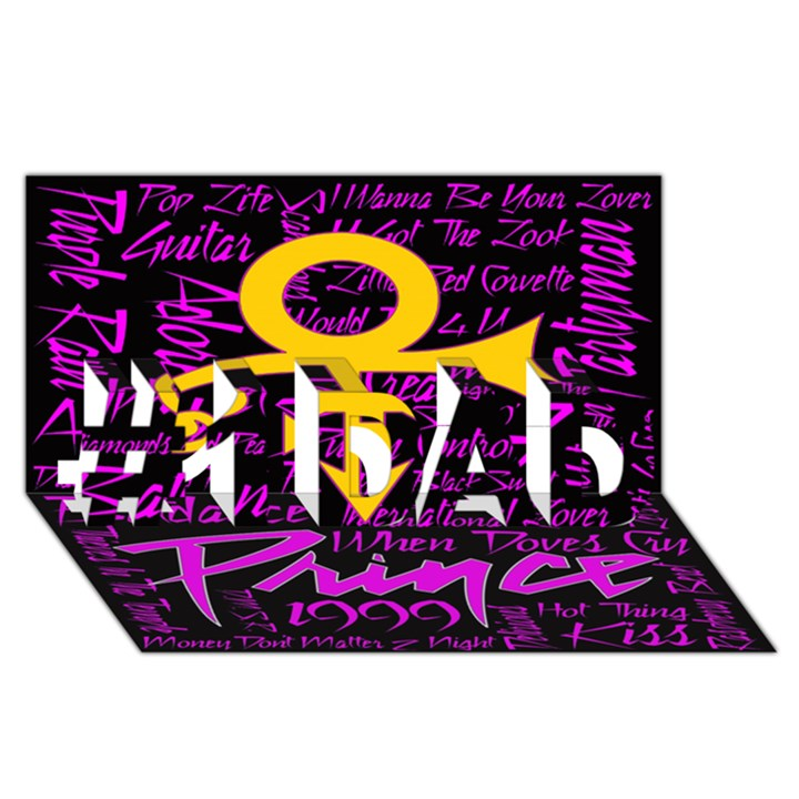 Prince Poster #1 DAD 3D Greeting Card (8x4)