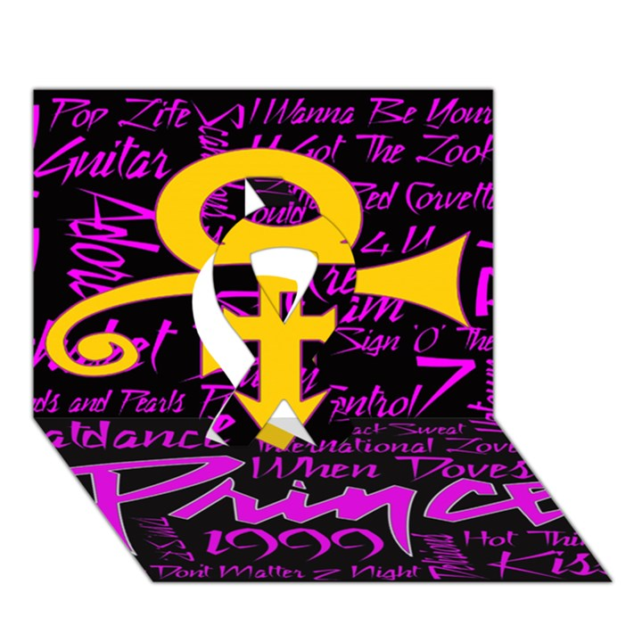 Prince Poster Ribbon 3D Greeting Card (7x5)