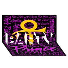Prince Poster PARTY 3D Greeting Card (8x4)