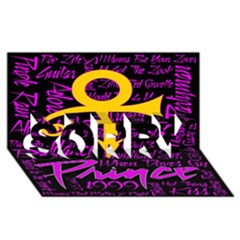 Prince Poster SORRY 3D Greeting Card (8x4)