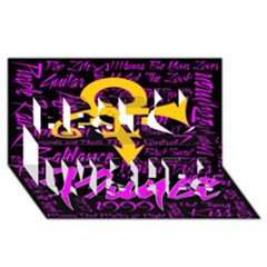 Prince Poster Best Wish 3d Greeting Card (8x4)
