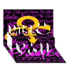Prince Poster Miss You 3d Greeting Card (7x5)