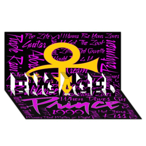 Prince Poster ENGAGED 3D Greeting Card (8x4)
