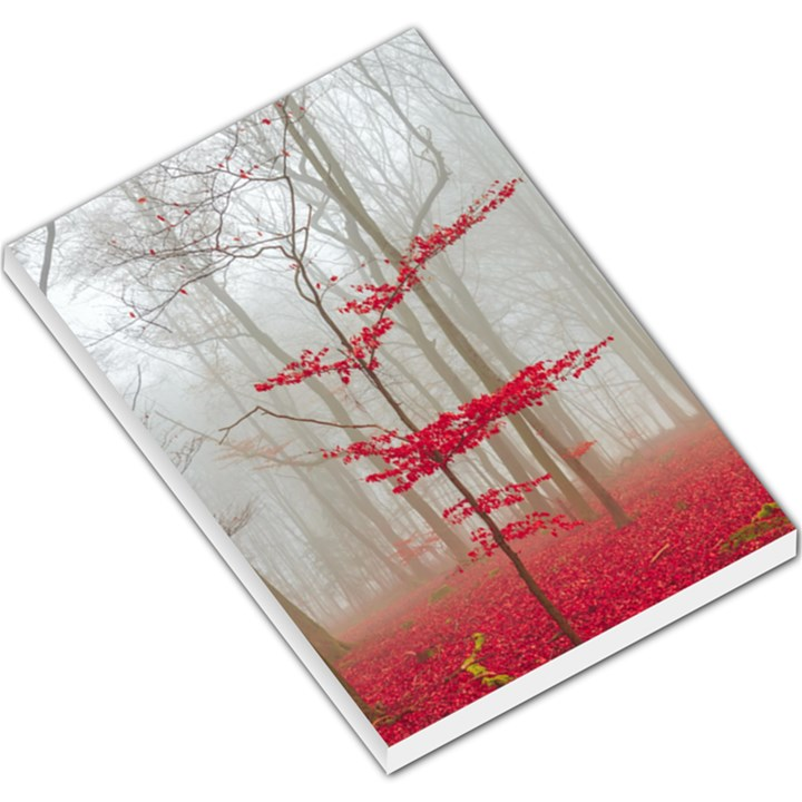 Magic forest in red and white Large Memo Pads