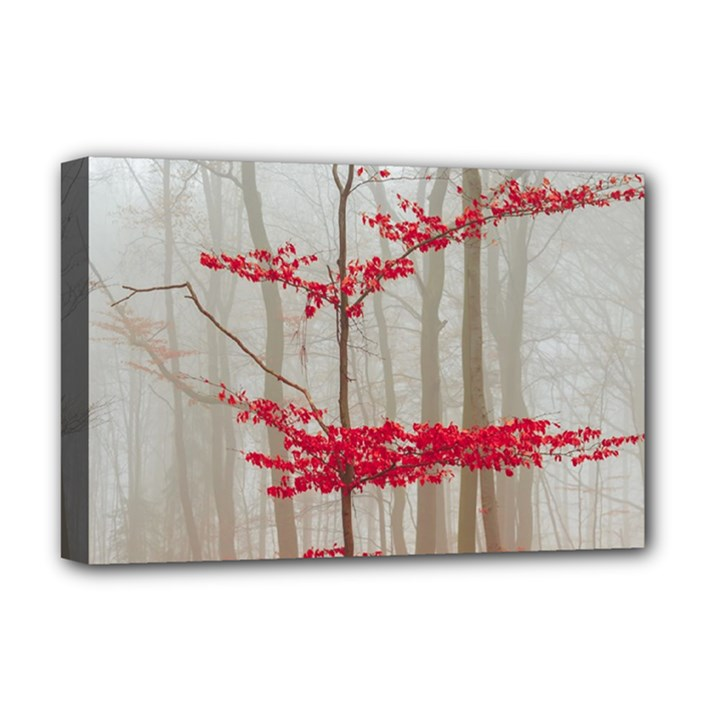 Magic forest in red and white Deluxe Canvas 18  x 12