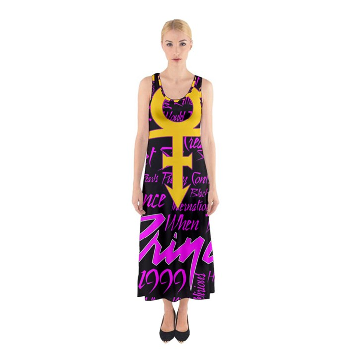Prince Poster Sleeveless Maxi Dress