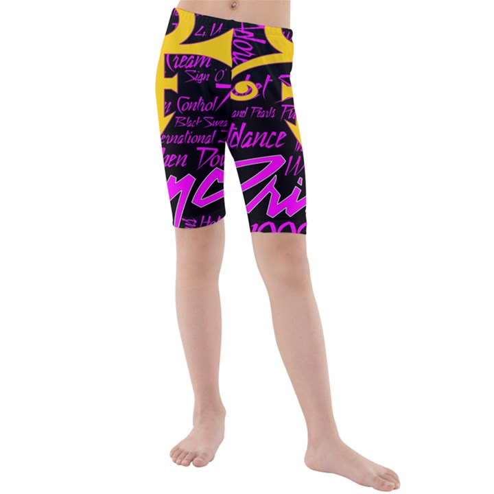 Prince Poster Kids  Mid Length Swim Shorts