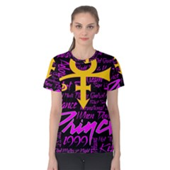 Prince Poster Women s Cotton Tee