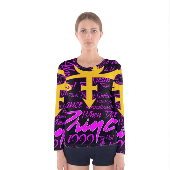 Prince Poster Women s Long Sleeve Tee