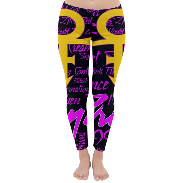 Prince Poster Winter Leggings