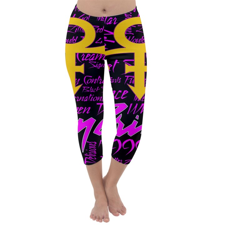 Prince Poster Capri Winter Leggings