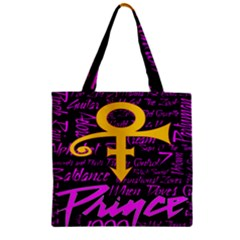 Prince Poster Zipper Grocery Tote Bag