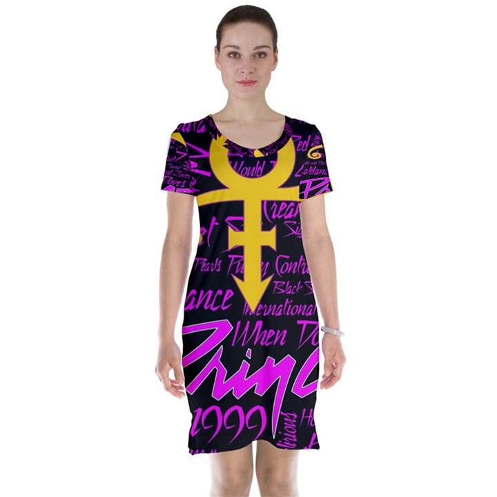 Prince Poster Short Sleeve Nightdress