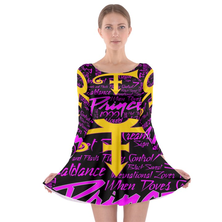 Prince Poster Long Sleeve Skater Dress