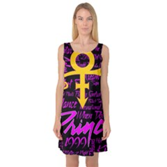 Prince Poster Sleeveless Satin Nightdress