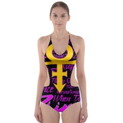 Prince Poster Cut Out One Piece Swimsuit
